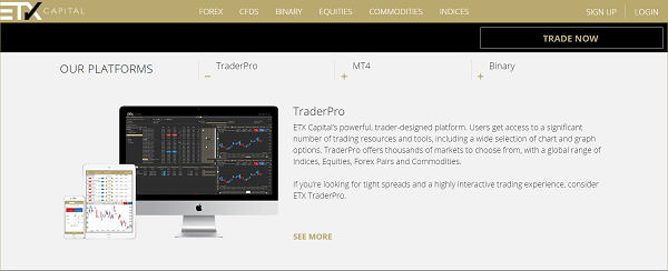 ETXCapital platforms