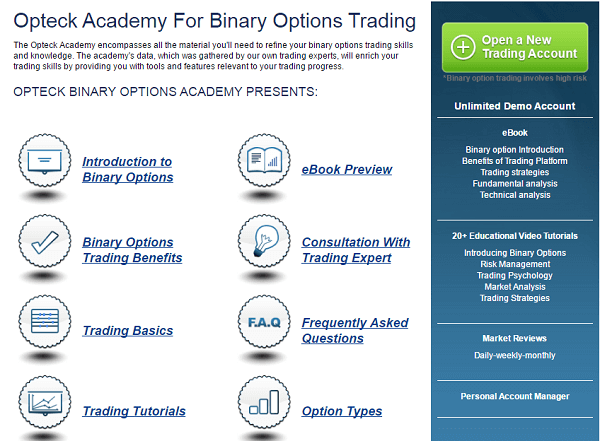 Opteck binary options review