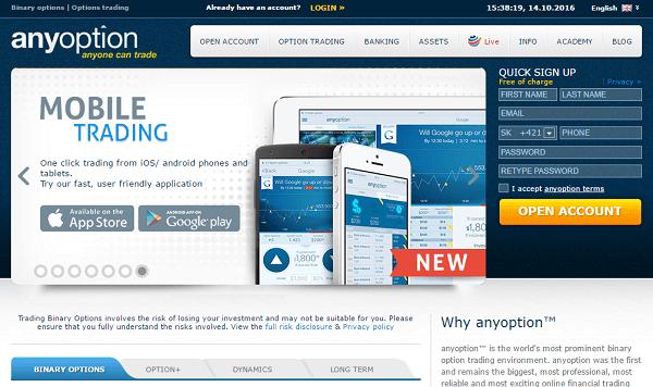 Anyoption trading reviews